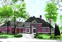 Dream House Plan - European Exterior - Front Elevation Plan #70-495