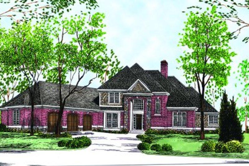 House Plan Design - European Exterior - Front Elevation Plan #70-495