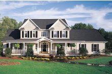 Architectural House Design - Farmhouse Exterior - Front Elevation Plan #929-16