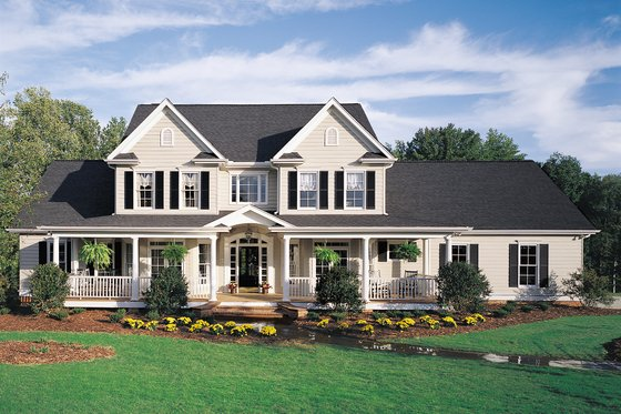 Farmhouse House Plans And Designs At BuilderHousePlans Beauteous 4 Bedroom Cape Cod House Plans Exterior Decoration