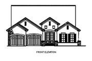 European Style House Plan - 3 Beds 2 Baths 1943 Sq/Ft Plan #17-110 Exterior - Other Elevation