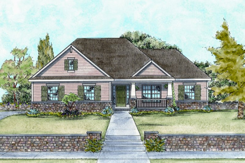 Home Plan - Craftsman Exterior - Front Elevation Plan #20-1715