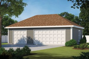 Dream House Plan - Traditional Exterior - Front Elevation Plan #20-2376