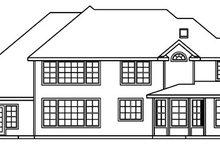 Home Plan - European Exterior - Rear Elevation Plan #124-515