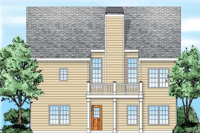 Traditional Exterior - Rear Elevation Plan #927-35 - Houseplans.com