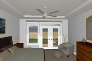 Farmhouse Style House Plan - 3 Beds 2 Baths 1645 Sq/Ft Plan #126-179 Interior - Master Bedroom