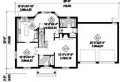 Colonial Style House Plan - 3 Beds 1 Baths 2189 Sq/Ft Plan #25-4701 Floor Plan - Main Floor Plan