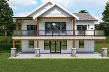 House Plan Design - Craftsman Exterior - Rear Elevation Plan #1070-124