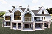 Craftsman Style House Plan - 3 Beds 3.5 Baths 4755 Sq/Ft Plan #920-111 Exterior - Rear Elevation