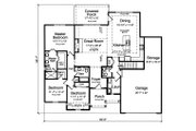 Ranch Style House Plan - 3 Beds 2.5 Baths 1867 Sq/Ft Plan #46-872