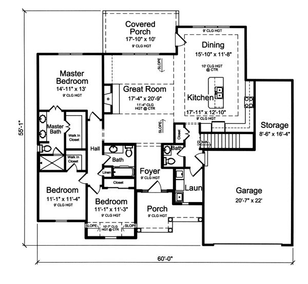 Ranch Floor Plan - Main Floor Plan Plan #46-872