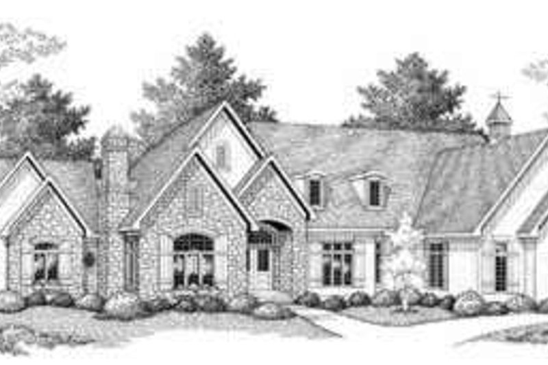 European Exterior - Front Elevation Plan #70-852