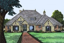 European Exterior - Front Elevation Plan #310-991