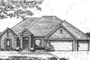 European Exterior - Front Elevation Plan #310-226