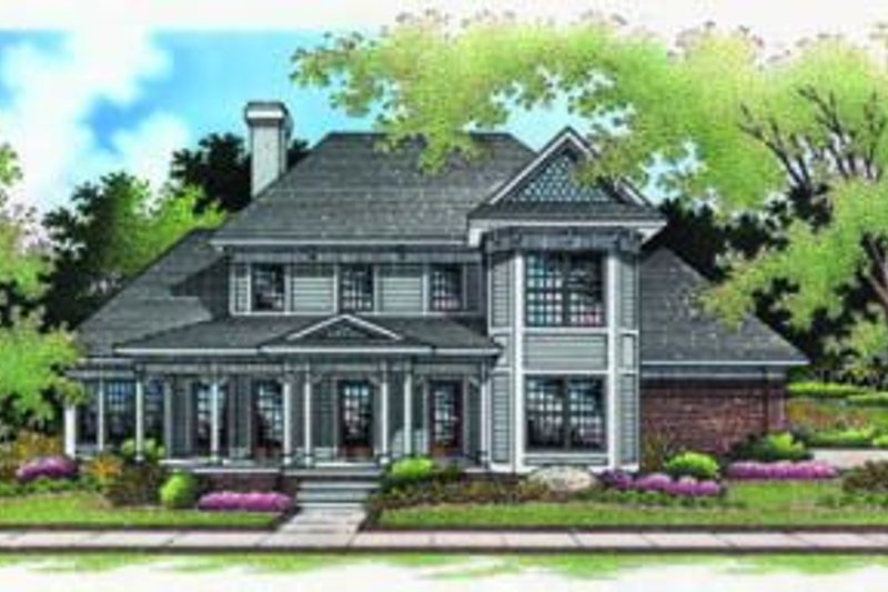 Dream House Plan - Traditional Exterior - Front Elevation Plan #45-201