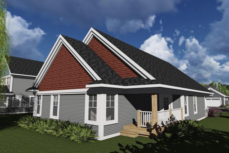 Craftsman Exterior - Rear Elevation Plan #70-1238 - Houseplans.com