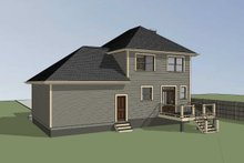 Southern Exterior - Rear Elevation Plan #79-168