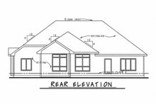 Home Plan - Traditional Exterior - Rear Elevation Plan #20-2078