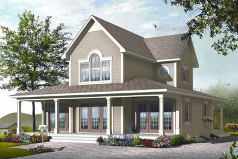 Traditional Exterior - Front Elevation Plan #23-826 - Houseplans.com
