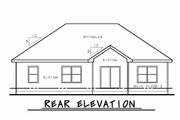 Craftsman Style House Plan - 3 Beds 2 Baths 1373 Sq/Ft Plan #20-2181 Exterior - Rear Elevation