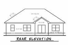 Craftsman Exterior - Rear Elevation Plan #20-2181