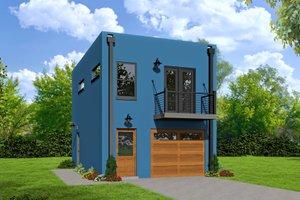 House Plan Design - Contemporary Exterior - Front Elevation Plan #932-126