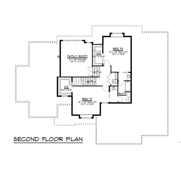 Craftsman Floor Plan - Upper Floor Plan Plan #1064-29