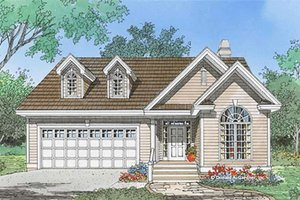 Ranch Exterior - Front Elevation Plan #929-1097