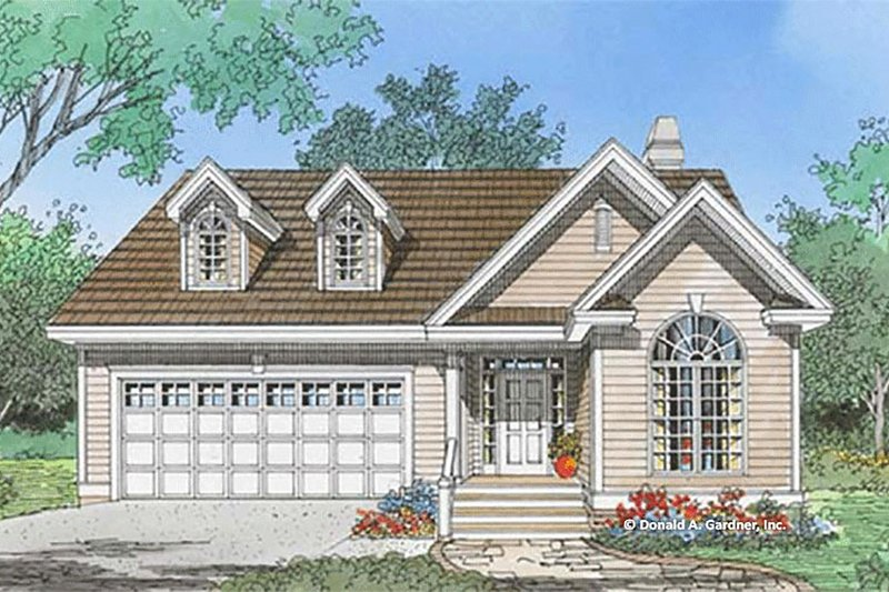 Ranch Style House Plan - 3 Beds 2 Baths 1349 Sq/Ft Plan #929-1097 Exterior - Front Elevation