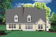 Colonial Style House Plan - 4 Beds 2.5 Baths 2561 Sq/Ft Plan #48-106 Exterior - Rear Elevation