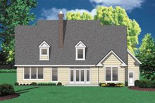 Dream House Plan - Rear View - 2500 square foot country home