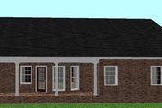 Ranch Style House Plan - 3 Beds 2 Baths 1500 Sq/Ft Plan #44-134 Exterior - Rear Elevation