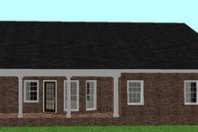 Ranch Exterior - Rear Elevation Plan #44-134