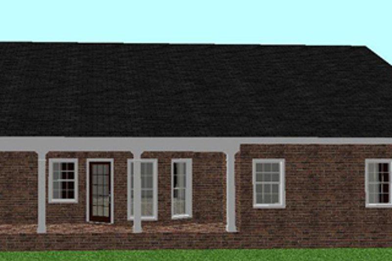 Ranch Exterior - Rear Elevation Plan #44-134 - Houseplans.com