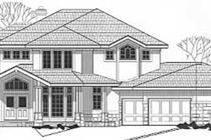 Modern Style House Plan - 4 Beds 4.5 Baths 4711 Sq/Ft Plan #67-507 Exterior - Front Elevation