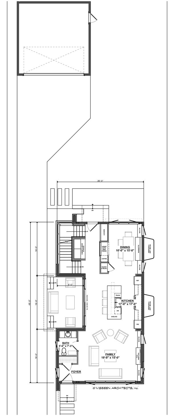 Architectural House Design - Contemporary Floor Plan - Main Floor Plan #928-296