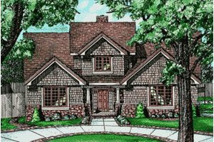 Traditional Exterior - Front Elevation Plan #20-218
