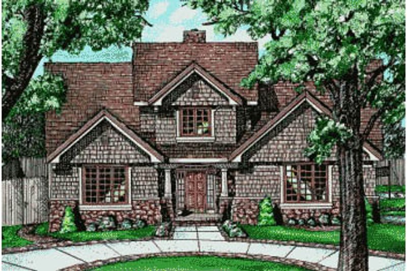 Traditional Exterior - Front Elevation Plan #20-218 - Houseplans.com