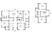 Colonial Style House Plan - 6 Beds 5 Baths 5180 Sq/Ft Plan #48-151 Floor Plan - Upper Floor Plan