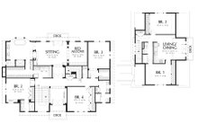 Colonial Floor Plan - Upper Floor Plan Plan #48-151