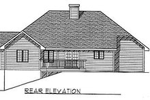 Dream House Plan - Traditional Exterior - Rear Elevation Plan #70-143