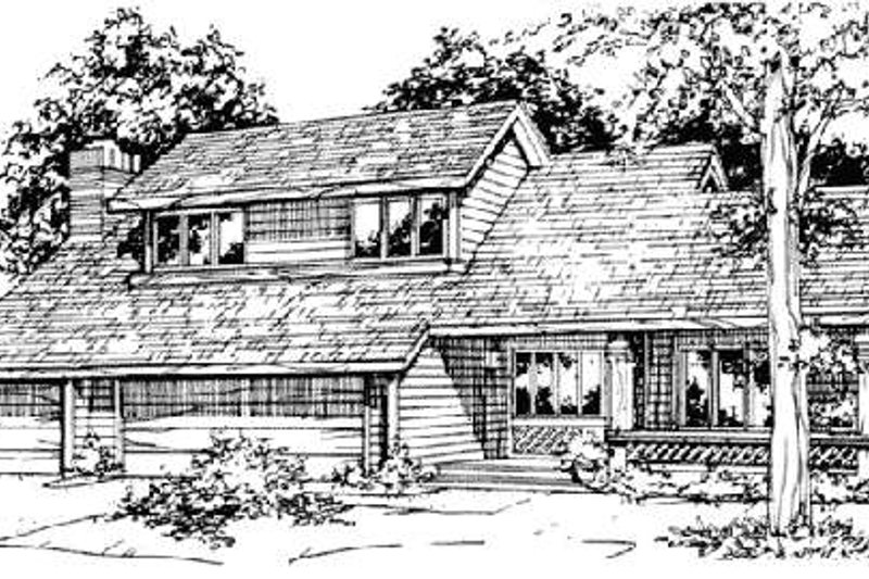 Bungalow Style House Plan - 3 Beds 2.5 Baths 3106 Sq/Ft Plan #320-313 Exterior - Front Elevation