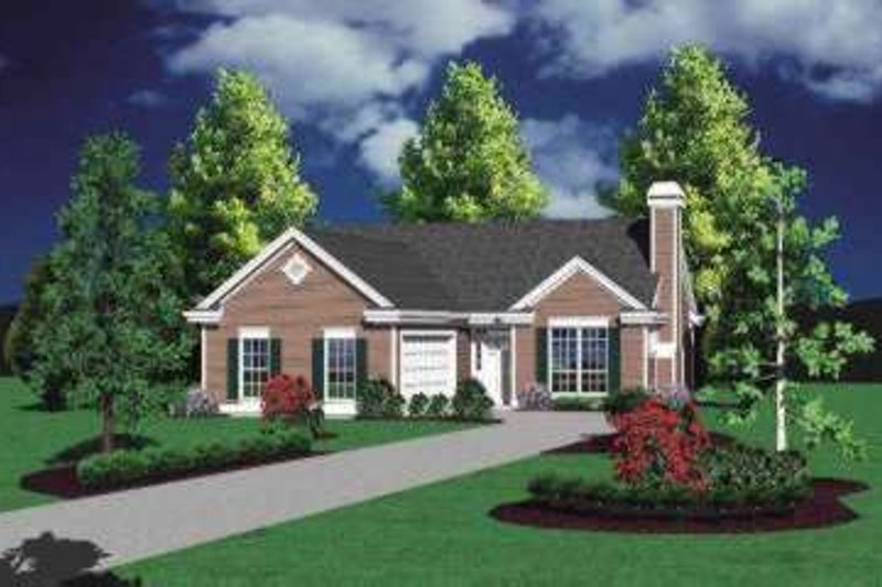 Traditional Exterior - Front Elevation Plan #48-166