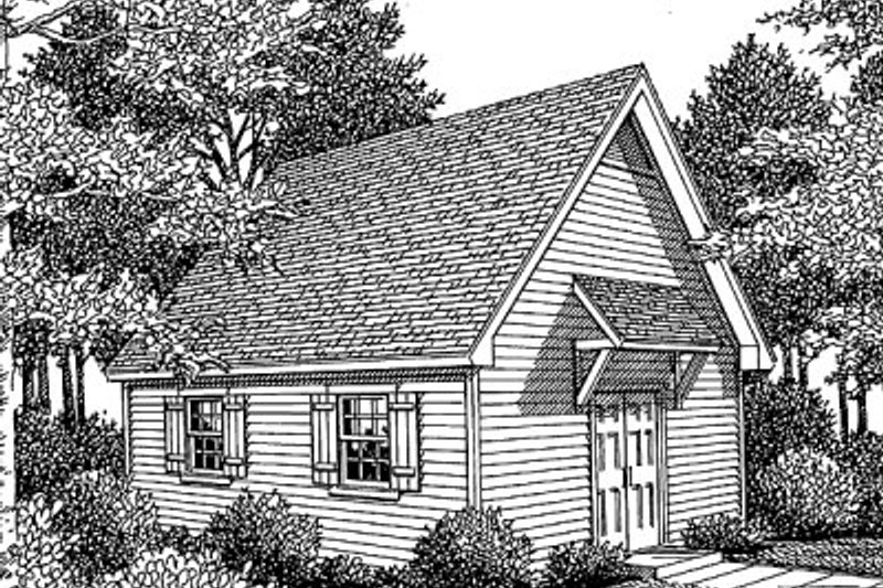 Traditional Style House Plan - 0 Beds 0 Baths 480 Sq/Ft Plan #41-102 Exterior - Front Elevation