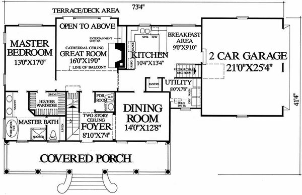 Country Floor Plan - Main Floor Plan Plan #137-109