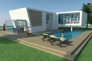 Modern Style House Plan - 3 Beds 2 Baths 1380 Sq/Ft Plan #473-2 Exterior - Outdoor Living