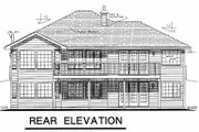 Ranch Style House Plan - 2 Beds 2 Baths 1437 Sq/Ft Plan #18-184 Exterior - Rear Elevation