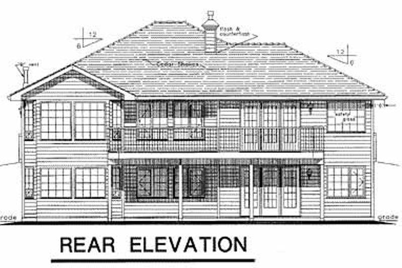 Ranch Exterior - Rear Elevation Plan #18-184 - Houseplans.com