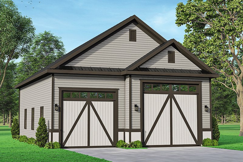 House Plan Design - Country Exterior - Front Elevation Plan #124-1244
