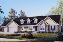 House Design - Country Exterior - Front Elevation Plan #57-131